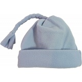 Spotty Dog Sky Blue Baby Fleece Tassel Bobble Hat / Winter Beanie Cap
