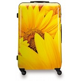 "SUITSUIT 24"" Sunflower ABS Trolley Case / 4 Wheel Spinner Suitcase"