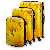 "SUITSUIT Sunflower Hard Shell ABS 3 Piece Luggage Set - 20"" / 24"" / 28"""