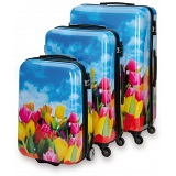"SUITSUIT Tulips Hard Shell ABS 3 Piece Luggage Set - 20"" / 24"" / 28"""