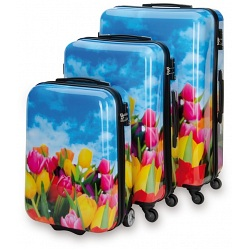 SUITSUIT Tulips 3 Piece ABS Luggage Set