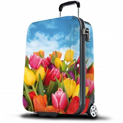 SUITSUIT Tulips Print Suitcase
