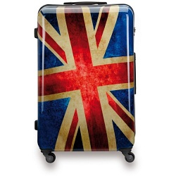 "SUITSUIT 24"" Union Jack ABS Trolley Case / 4 Wheel Spinner Suitcase"
