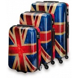 "SUITSUIT Union Jack Hard Shell ABS 3 Piece Luggage Set - 20"" / 24"" / 28"""