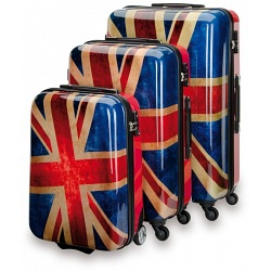 """SUITSUIT Union Jack Hard Shell ABS 3 Piece Luggage Set - 20"""" / 24"""" / 28"""""""