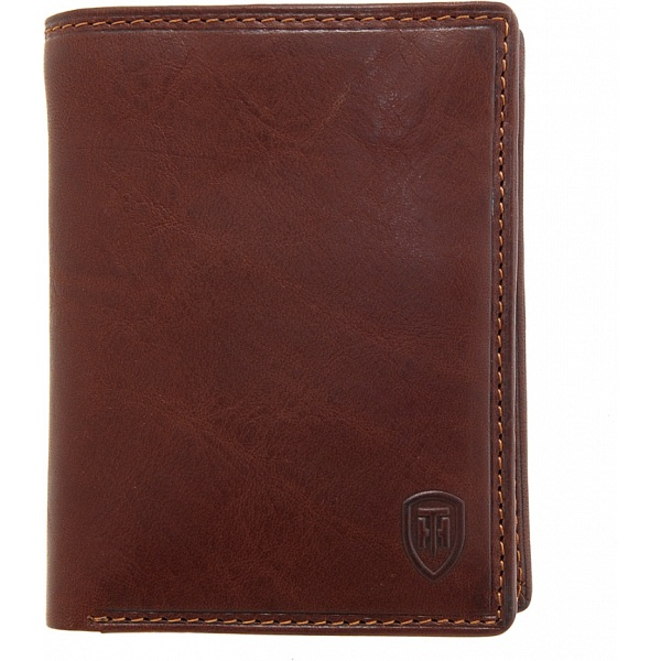 Tumble Amp Hide Vertical Two Fold Mens Leather Wallet