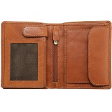 Tumble & Hide Vertical Two Fold Mens Leather Wallet