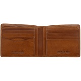 Tumble &amp; Hide Two Fold Mens Leather Card Wallet