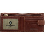 Tumble & Hide Two Fold Mens Leather Tabbed Wallet