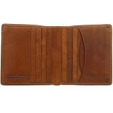 Tumble & Hide Vertical Two Fold Mens Leather Card Wallet