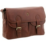 Tumble &amp; Hide Flap Over Leather Satchel