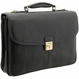 Tumble & Hide Adrano Triple Gusset Leather Briefcase