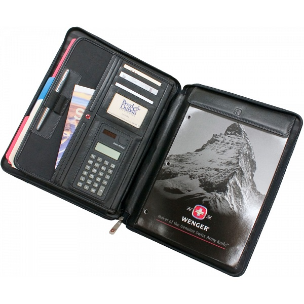 Wenger Swiss Gear Echelon Leather Folio With Carry Handle