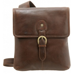 Yoshi Anderson Leather Flap Over Across Body Bag YB85