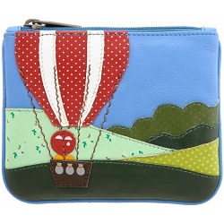 Yoshi Lichfield Balloons Up In The Air Limited Edition Leather Coin Purse