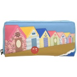 Yoshi Beach Hut Limited Edition Leather Purse with Coin Pocket