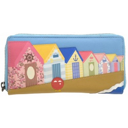 Yoshi Beach Hut leather picture purse Y1257-BC