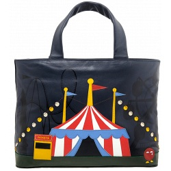 Yoshi Hampton Limited Edition Circus Big Top Leather Handbag / Grab Bag