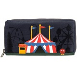 Yoshi Limited Edition Circus Big Top Applique Leather Purse with Coin Pocket