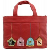 Yoshi Hampton Bird Applique Leather Grab Bag / Handbag