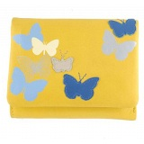 Yoshi Bloomfield Butterfly Leather Flap Over Purse