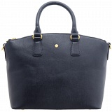Yoshi Calloway Cross-Grain Leather Zip Top Grab Bag