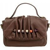 Yoshi Cecilia Bead Leather Grab Bag / Handbag