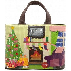 Yoshi Hampton Seasons Greetings Christmas Leather Grab Bag