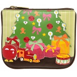 Yoshi Seasons Greetings Limited Edition Applique Leather Zip Coin Purse