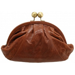 Yoshi Dahlia Leather Clutch Bag