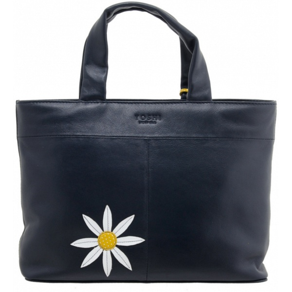 Yoshi Hampton Daisy He Loves Me Applique Leather Grab Bag