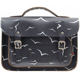Yoshi Dewhurst Birds Print Satchel / Small Leather Work Bag