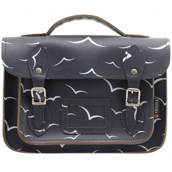 Yoshi Dewhurst birds print leather satchel YB85