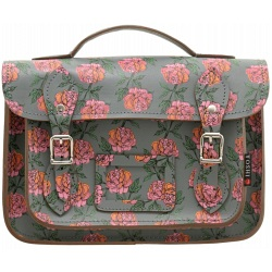 Yoshi Dewhurst Rose Print Satchel / Small Leather Work Bag