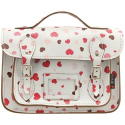 Yoshi Dewhurst Heart Print leather satchel YB85