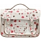 Yoshi Dewhurst Heart Print Satchel / Small Leather Work Bag
