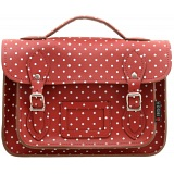 Yoshi Dewhurst Red Polka Satchel / Small Leather Work Bag