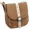 Yoshi Eliza Leather Across Body Bag / Handbag (Taupe)