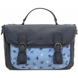 Yoshi Etheline Leather Satchel / Work Bag (Navy Print)