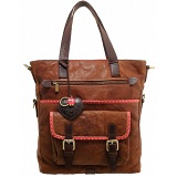 Yoshi Fontaine Leather Shopper Bag / Shopping Tote (Brown)