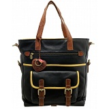 Yoshi Fontaine Leather Shopper Bag / Shopping Tote (Black)