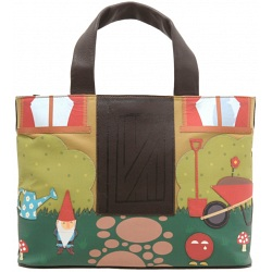 Yoshi Garden applique leather grab bag Y26-GD