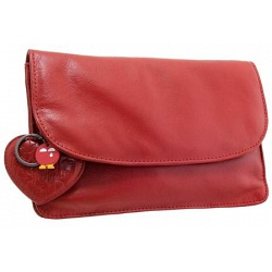 Yoshi Hampstead Flap Over Leather Clutch Bag / Evening Bag