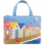 Yoshi Hampton Beach Hut Limited Edition Leather Grab Bag / Handbag
