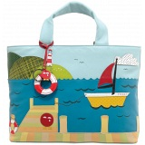 Yoshi Hampton Limited Edition Boat Applique Leather Grab Bag / Handbag
