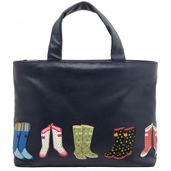 Yoshi Hampton Wellies Applique Leather Handbag / Grab Bag