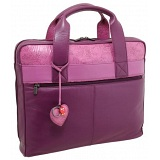 Yoshi Harrington Rose Print Leather Business Laptop Bag
