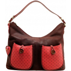 Yoshi Hayworth Button Leather Shoulder Bag