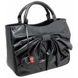 Yoshi Henley Medium Leather Grab Bag with Bow Detail