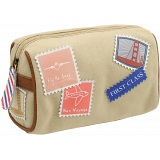 Yoshi Hope Springs Stamp Detail Makeup Case / Cosmetic Bag
